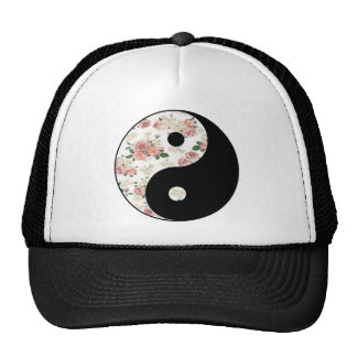 Floral Yin and Yang Trucker Hat