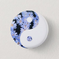 Floral Yin Yang Button