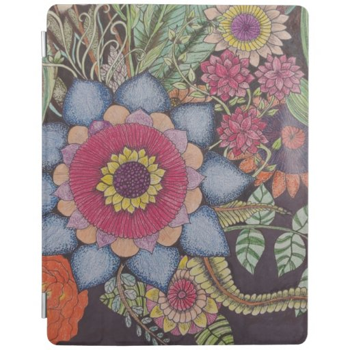 Floral Zen-Tangle iPad Smart Cover