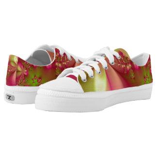 Floral Zen Zipz Lace Up Shoes