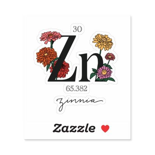 Floral Zinc Element Sticker