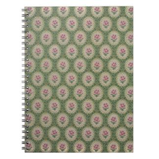 Floral Zuber et Cie wallpaper, 1890-1910 Spiral Notebook