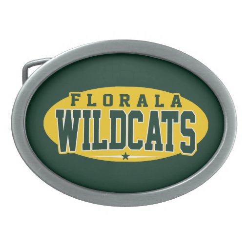 Florala High School; Wildcats Oval Belt Buckle