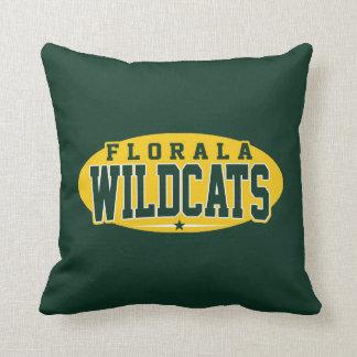 Florala High School; Wildcats Throw Pillow