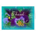 Florales azules le agradecen tarjetón
