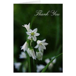 Florales blancos le agradecen cardar tarjeta de felicitación