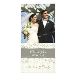 Florales poner crema le agradecen las tarjetas de tarjetas fotograficas personalizadas