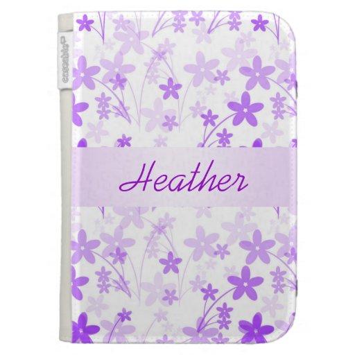 Florales púrpuras de encargo encienden la caja en