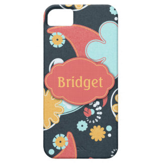 Florales retros - añada un nombre - iPhone 5 fundas