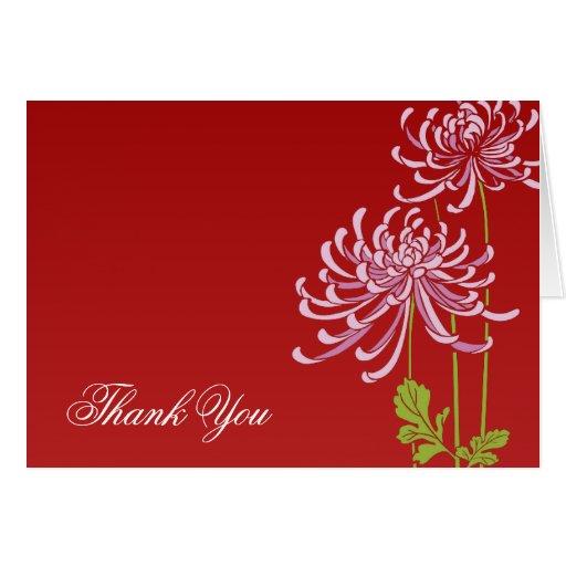 Florales rojos le agradecen diseño de las tarjetas