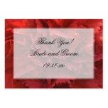 Florales rojos le agradecen las etiquetas del favo tarjeta de visita