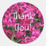Florales rosados le agradecen etiquetas