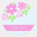 ¡Florales rosados le agradecen! - Pegatina
