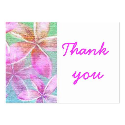 florales rosados le agradecen plantillas de tarjetas de visita