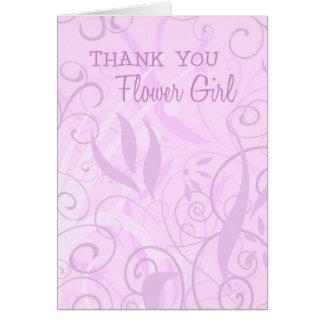 Florales rosados le agradecen tarjeta del florista