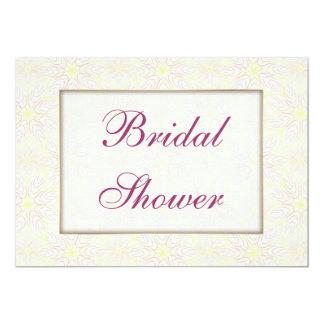 "Floraline Mauve Bridal Shower invitation 5"" X 7"" Invitation Card"