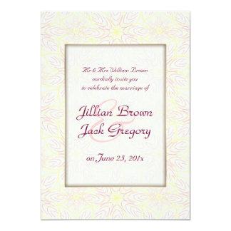 "Floraline Mauve WEDDING Invitation 5"" X 7"" Invitation Card"