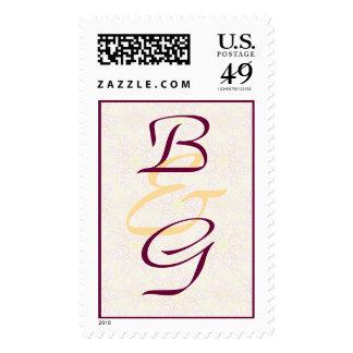 Floraline Mauve WEDDING Postage Stamps
