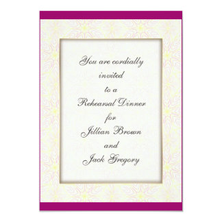 "Floraline Mauve WEDDING Rehearsal Dinner invite 5"" X 7"" Invitation Card"