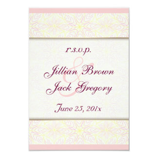 Floraline Mauve Wedding RSVP announcement