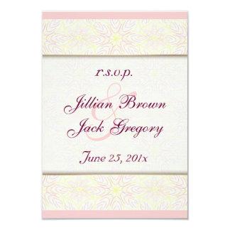 """Floraline Mauve Wedding RSVP announcement 3.5"""" X 5"""" Invitation Card"""