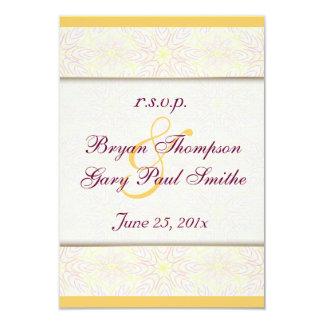 Floraline Mauve Wedding RSVP reply Announcement