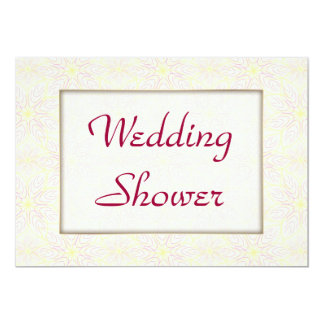 "Floraline Mauve WEDDING Shower invitation 5"" X 7"" Invitation Card"