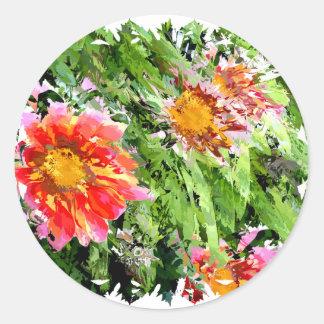 Florals 004 classic round sticker