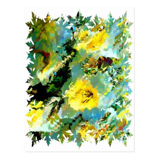 Florals 007 postcard
