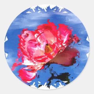 Florals 009 classic round sticker