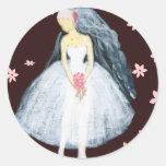 Florals & Bride Classic Round Sticker