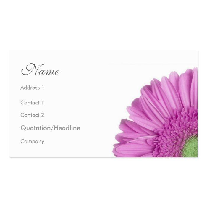 Florals - Gerbera Daisy Business Card