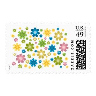 Florals - hippie design postage stamps