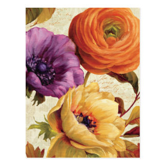 Florals in Full Bloom Postcard