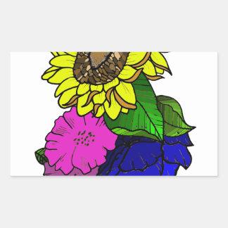 Florals Rectangular Sticker