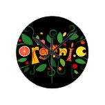 Floramentina - organic art round clock
