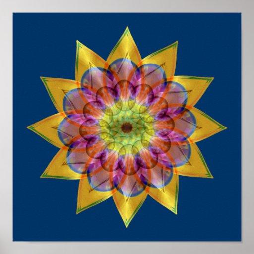 Floramoeba Star Mandala Print