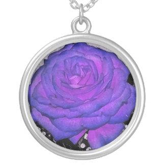Flora's Twilight Rose Necklace