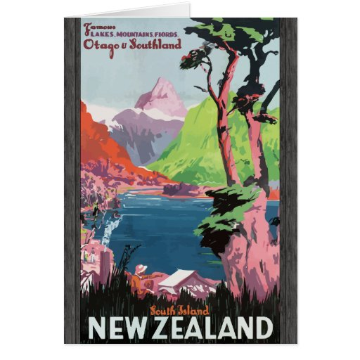 Flords Otago Southland South Island Newzealand, Vi Greeting Card
