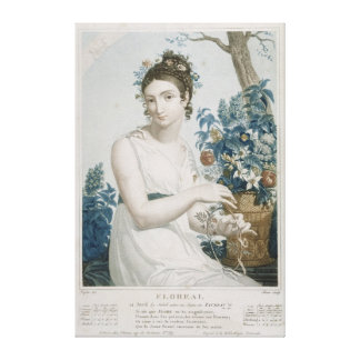 Floreal , eighth month of the Republican Canvas Print