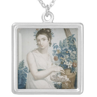 Floreal , eighth month of the Republican Silver Plated Necklace