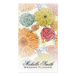 Florece a los floristas que casan la tarjeta de vi tarjetas de visita
