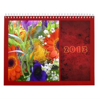 Florece elegante rojo del manojo del ramo floral calendario