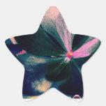 Florece fluo pegatinas forma de estrellaes
