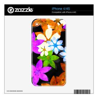 FLORECE la piel del iPhone Calcomanías Para iPhone 4