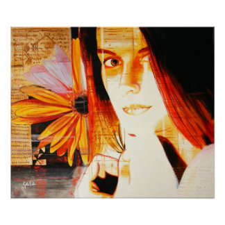 Florece la pintura del autor impresiones