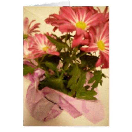 florece la tarjeta de felicitación