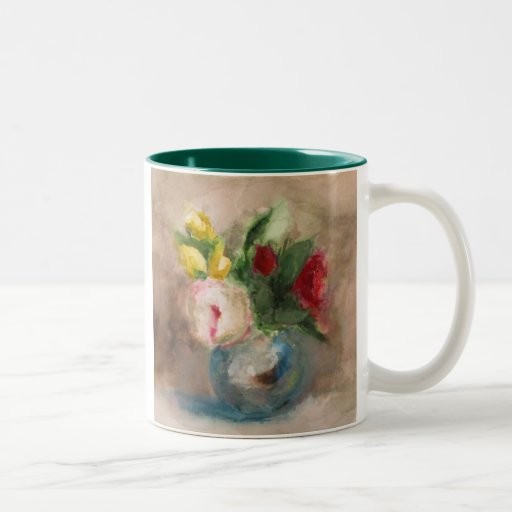florece la taza de café