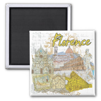 Florence 2 Inch Square Magnet