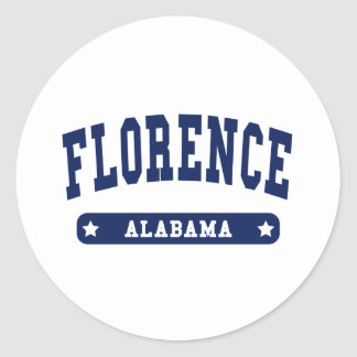 Florence Alabama College Style tee shirts Classic Round Sticker